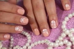 Nagelkunstdesign-Pastellfarben lizenzfreies stockfoto