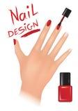 Nagellackdesign Buity-Salonhintergrund lizenzfreie abbildung