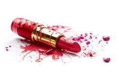 Nagellak, oogschaduw en lippenstift Stock Foto