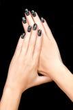 Nageln Sie Kunst Magnetischer Nagel-Lack tätowierung Stockbilder