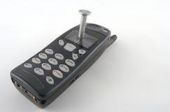 Nageln Sie unten Ihre Telefonkosten! Stockbild