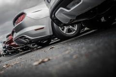 Nagelneue Fahrzeuge für Verkauf stockfotografie