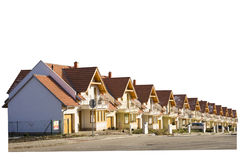 Nagelneue Häuser in Folge gebaut Stockfotografie