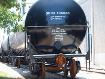 Nagelneue Tankwagen Stockfoto