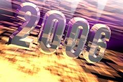 Nagelneues Jahr 2006 mit Leuchten lizenzfreie abbildung