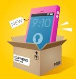 Nagelneues smartphone Stockbilder