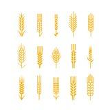 Nagelt Ikone Gestaltungselemente Logo Bread Bake fest vektor abbildung