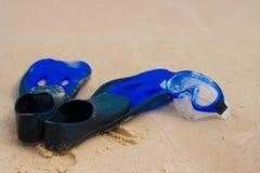 Nageoire et masque de plongée photo stock