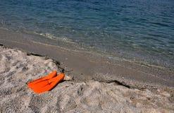 Nageoires de plongée Photos stock