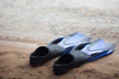 nageoires en caoutchouc Photo stock