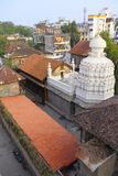 Aerial view of Nageshwar Temple, Somwar Peth, Pune. Nageshwar Temple, the temple of Lord Shiva, is located in Somwar Peth, Pune. It is one of the oldest temples Royalty Free Stock Photos