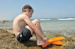 nageur Photographie stock