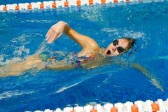 nageur féminin Photographie stock libre de droits