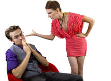 Nagging Girlfriend Stock Photo