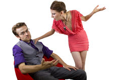 Nagging Girlfriend Stock Image