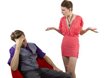 Nagging Girlfriend Stock Images