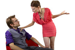 Nagging Girlfriend Royalty Free Stock Image