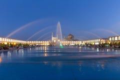 Naghsh-e Jahan广场的阿訇清真寺在伊斯法罕,伊朗 免版税库存照片