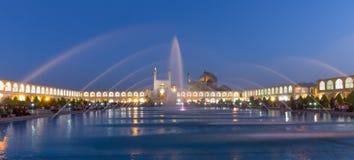 Naghsh-e Jahan广场的阿訇清真寺在伊斯法罕,伊朗 库存照片