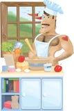 Nagi szef kuchni Zdjęcie Royalty Free