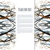 Nagie zim gałąź drzewa ilustracja wektor