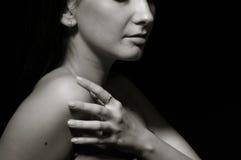 nagiego portreta ładni kobiety potomstwa zdjęcia royalty free