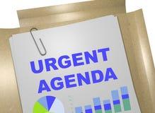 Nagląca agenda - biznesowy pojęcie Zdjęcie Royalty Free
