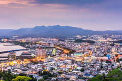 Nago, Okinawa, Japan. Downtown skyline Stock Image