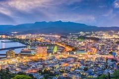 Nago, Okinawa, Japan. Downtown skyline royalty free stock photography