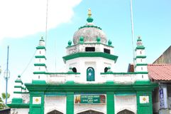 Nagore Dargha警长清真寺在乔治市在槟榔屿在马来西亚在远东东南亚 伊斯兰教的穆斯林Architectu 库存照片