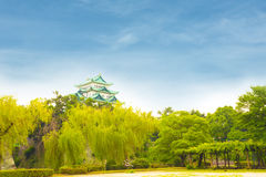 Nagoya Castle Clear Blue Day Sky Above Trees H Royalty Free Stock Images