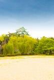 Nagoya Castle Clear Blue Sky Day Above Treeline V Royalty Free Stock Photos