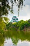 Nagoya Castle Framed Hanging Leaves Tree V Royalty Free Stock Images