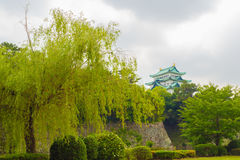 Nagoya Castle High Above Rampart Trees Royalty Free Stock Photo