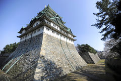 Nagoya Castle, Japan. A wide angle view of the Nagoya Castle, Nagoya City, Japan Stock Photography