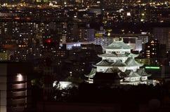 Nagoya Castle and Nagoya City at Night. Stock Photography
