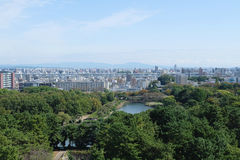 Nagoya city from Nagoya castle Stock Photos