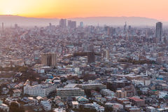 Nagoya cityscape and skyscraper with sky in twilight time Royalty Free Stock Image