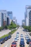 Nagoya downtown business district Japan. Nagoya Central Business district in Nagoya Japan Stock Image