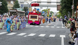 Nagoya festival, Japan royaltyfri foto