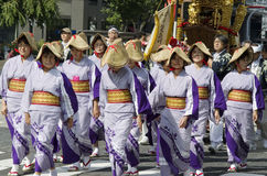 Nagoya festival, Japan arkivbilder