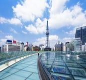 Nagoya i stadens centrum dag, Japan stad royaltyfria foton