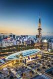 Nagoya, Japan. City skyline with Nagoya Tower stock photo