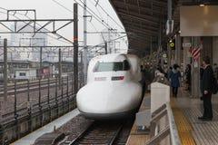 Nagoya Japan - April 1,2015: Den 700 serien Hikari Arkivfoto
