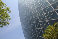 Nagoya, Japan. APRIL 29, 2012: Mode Gakuen Spiral Towers building in . The building was finished in 2008, is 170m tall and is among most recognized Royalty Free Stock Images
