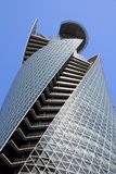 Nagoya, Japan. APRIL 28, 2012: Mode Gakuen Spiral Towers building in . The building was finished in 2008, is 170m tall and is among most recognized Royalty Free Stock Photography