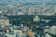 Nagoya, Japan - city in the region of Chubu. Aerial view with sk Royalty Free Stock Images