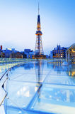 Nagoya, Japan city skyline with Nagoya Tower. Royalty Free Stock Photography
