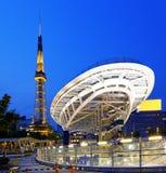 Nagoya, Japan city skyline with Nagoya Tower. Royalty Free Stock Photos