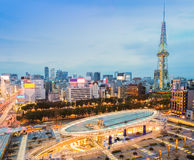 Nagoya, Japan city skyline with Nagoya tv Tower in twilight. Stock Photo